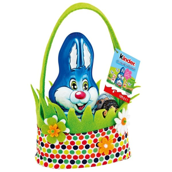 Kinder Zajączek Czekoladowy Wielkanocny Koszyczek