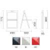 Enjoy 460 Pedrali wymiary i kolory