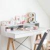 Minko Basic + to stylowe biurko z nadstawką w pięknym skandynawskim stylu