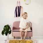 Skrzynia na zabawki z siedziskiem i oparciem Flexa Play różowa