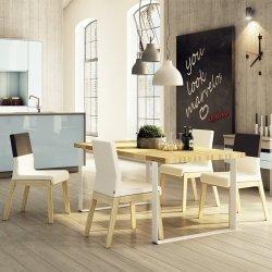 Zestaw do jadalni Stół Dablin i 4 krzesła Kyla Niskie