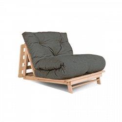 Layti 90 futon Sofa rozkładana - popielaty Woodman