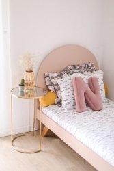 Łóżko BASIC PILLE półokrągłym zagłówkiem Minko