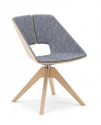 INFINITI drewniane krzesło obrotowe HUG