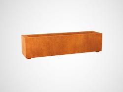 Donica metalowa - Corten LARGO 2 1200x300x300