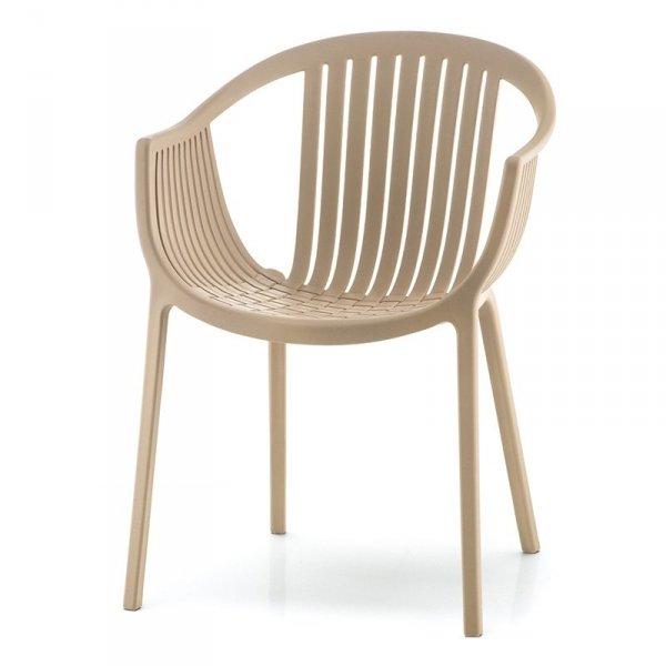 Stylowe krzesło z podłokietnikami Tatami 306 Pedrali