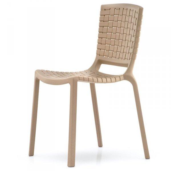 Stylowe krzesło z tworywa do wnętrz i ogrodów Tatami 305