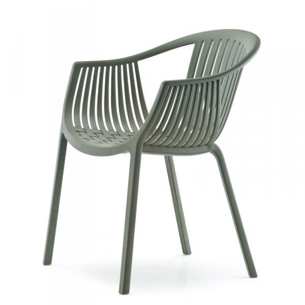 Designerskie krzesła do nowoczesnych wnętrz Pedrali Tatami 306 Zielone
