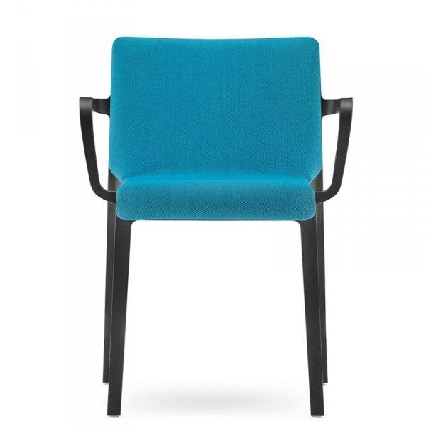 Stylowe krzesło z podłokietnikami o tapicerowanym siedzisku Volt 676 Pedrali