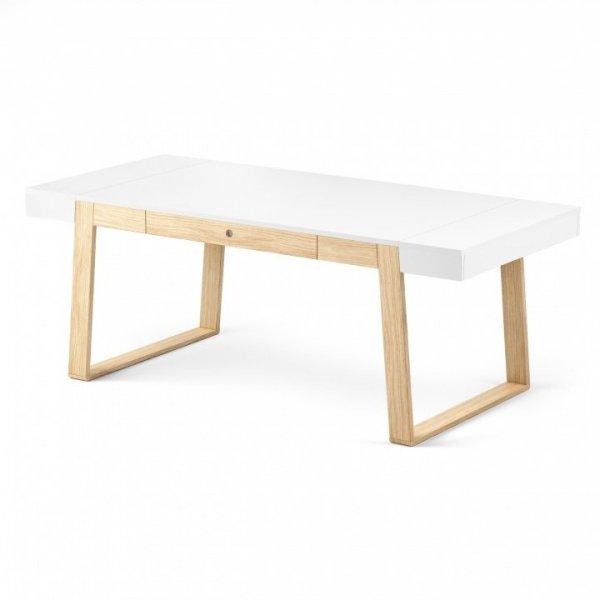 Stół Magh biały, wymiary (w/sz/gł): 75/160/90 cm
