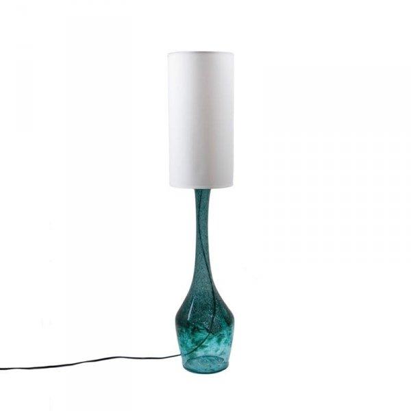 Lampa Stołowa szklana turkusowa LGH0171 Gie El