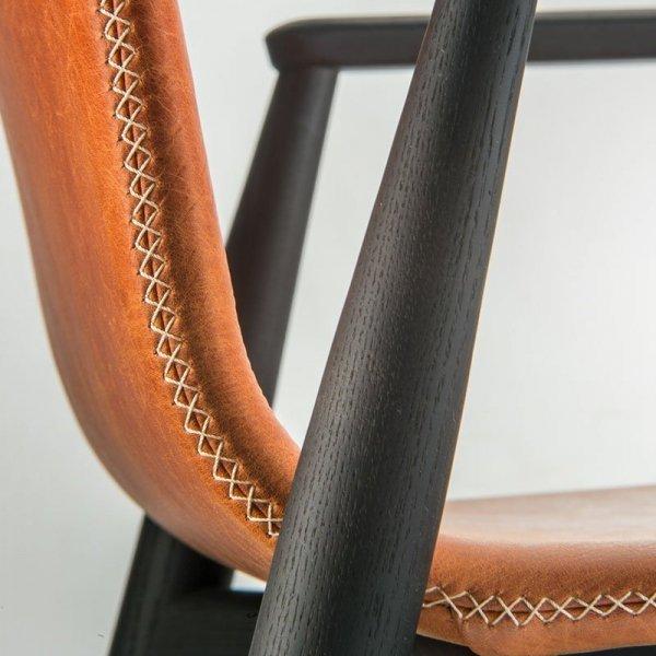 Tapicerowane krzesło w stylu skandynawskim Malmp 396
