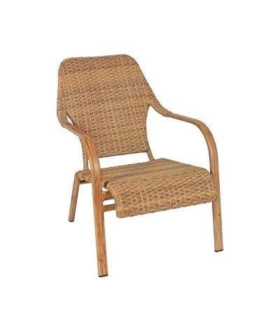 Fotel wiklinowy Brasilia karmelowy