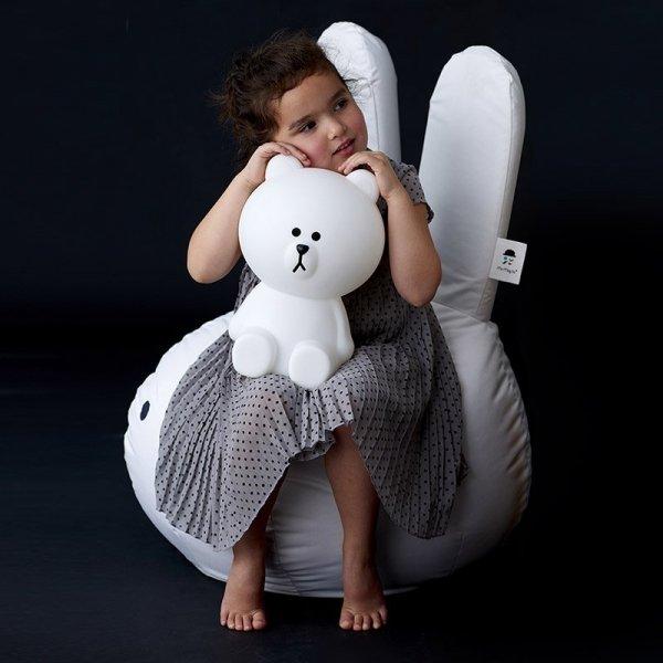 Stylowy puf dziecięcy do siedzenia w kształcie króliczka Miffy