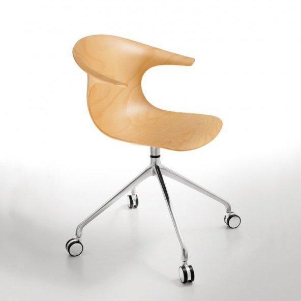 Drewniane krzesło obrotowe na kółkach Loop 3d Infiniti