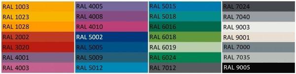 Metalowe meble marki Etro dostępne są w wielu żywych kolorach