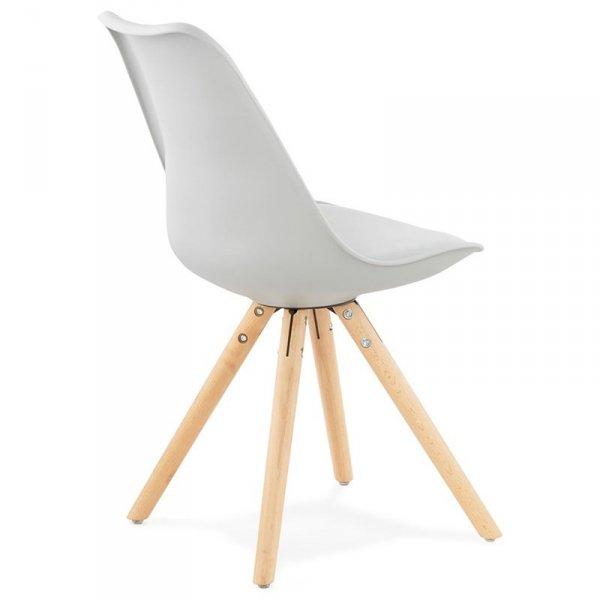 Tolik krzesło w stylu skandynawskim szare