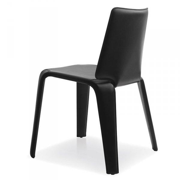 Stylowe krzesła Mood 720 tapicerowane skórą Pedrali