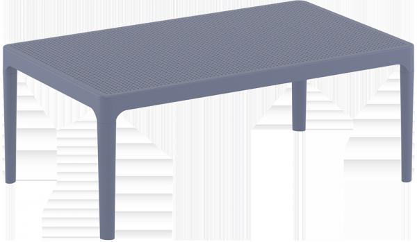 Stolik SKY Lounge Siesta z tworzywa szary