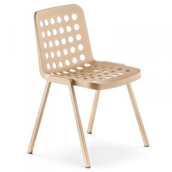 Nowoczesne krzesło Pedrali Koi-Booki 370 Beżowe