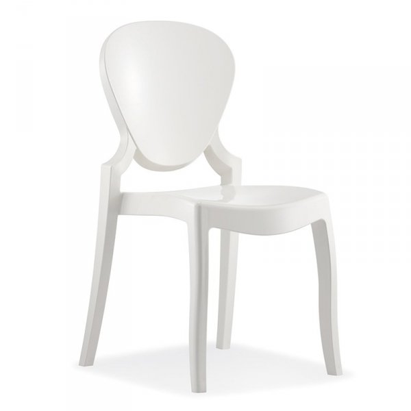 krzesło Queen białe wykonane z tworzywa