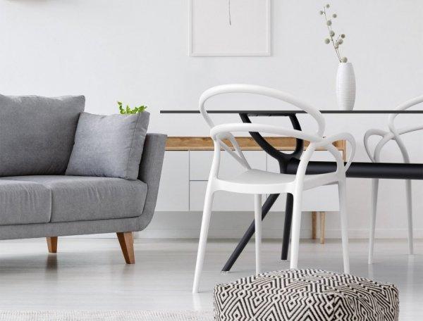 Krzesło Mila Siesta o pięknym designerskim kształcie