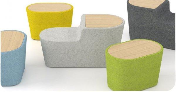 Woodmoss stołek stolik podwójny OXYO