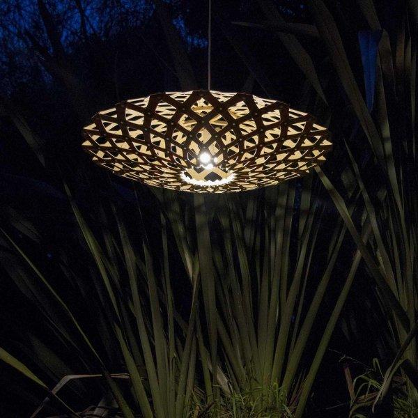 Lampa wisząca z naturalnego drewna Flax Ø 80cm