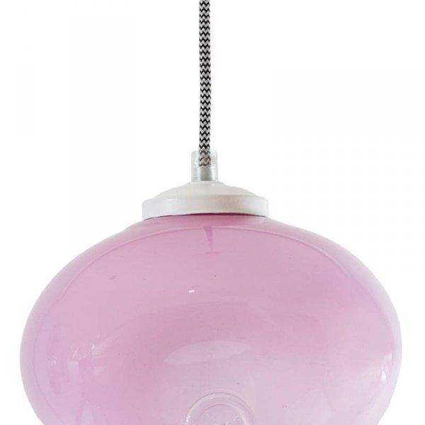 Lampa szklana Owal pastelowy róż Gie El