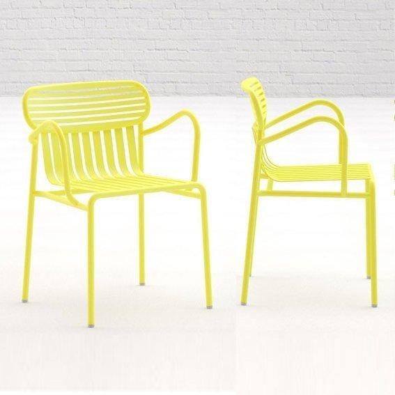Weekend metalowe krzesło ogrodowe z podłokietnikami OXYO