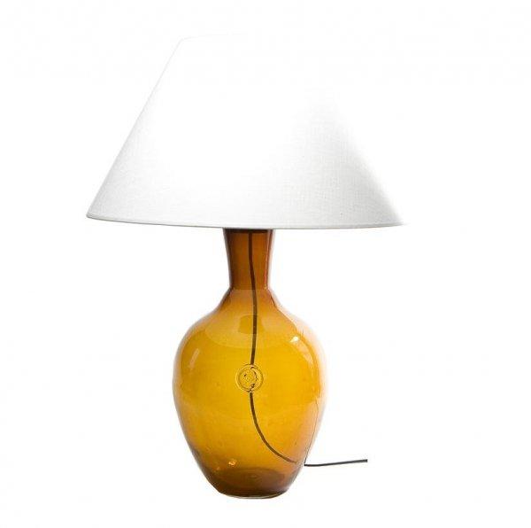 Lampka Stołowa szklana miodowa LGH0070 Gie El