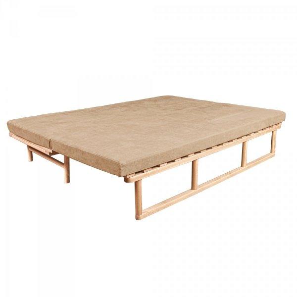 Le MAR Sofa rozkładana - surowe drewno  beżowa Woodman