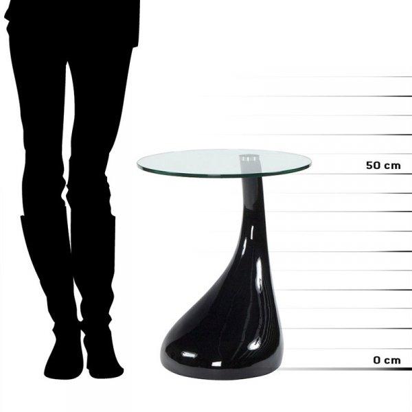 Designerski stolik Tear czarny