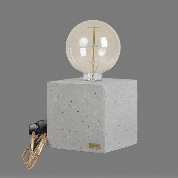 Lampka Edison Cube ze złotym kablem