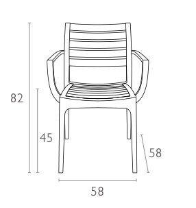 Krzesła Artemis wymiary