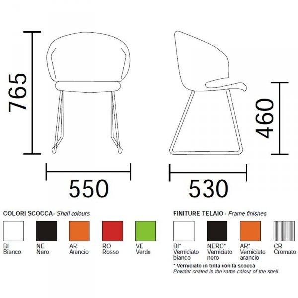 Nowoczesne krzesło Grace 411 Pedrali