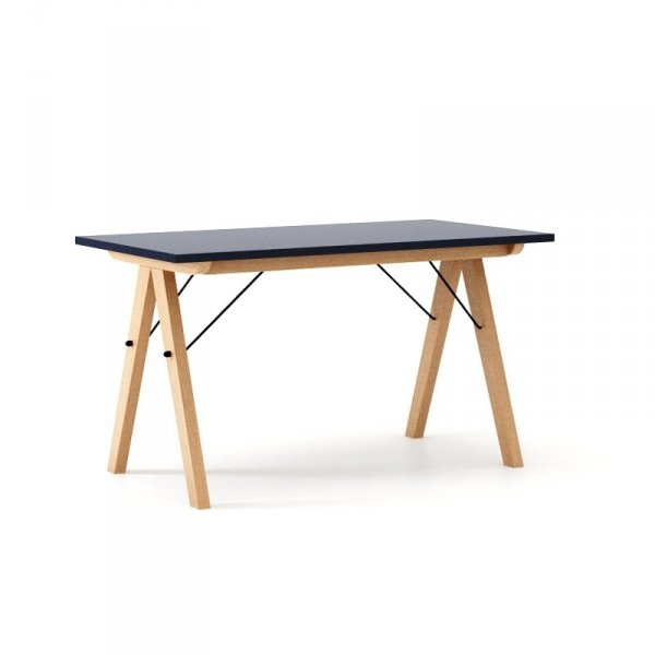 Nowoczesny stół w skandynawskim stylu Minko Basic Granatowy - Dark Navy