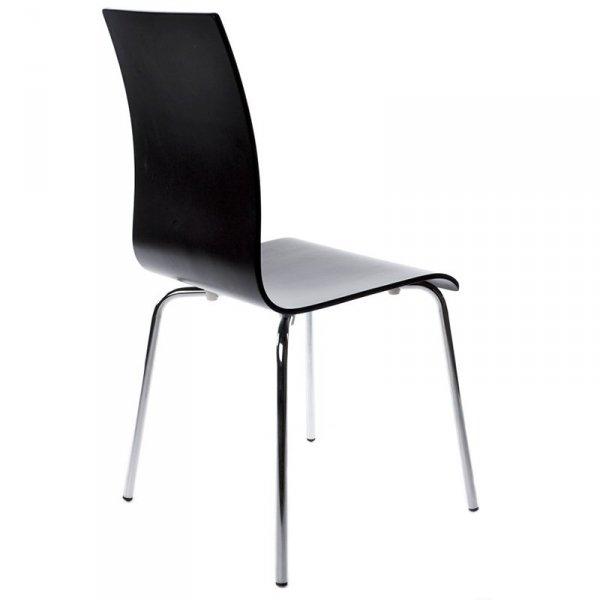 Classic stylowe krzesło do jadalni czarne