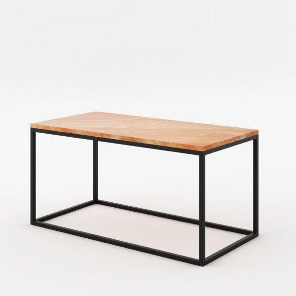 Minimalistyczny, ale niezwykle efektowny mebel to oryginalne połączenie marmuru w formie blatu i nóżek z włoskiej stali.