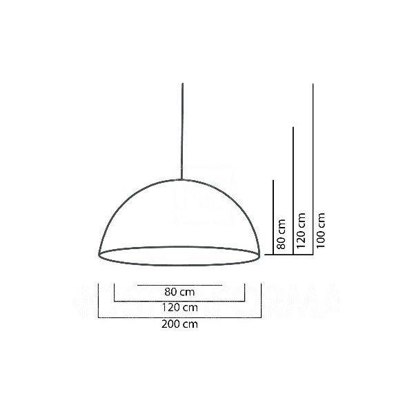 Cupole Slide Lampa Wisząca Ø 120 h 60 Lakierowana