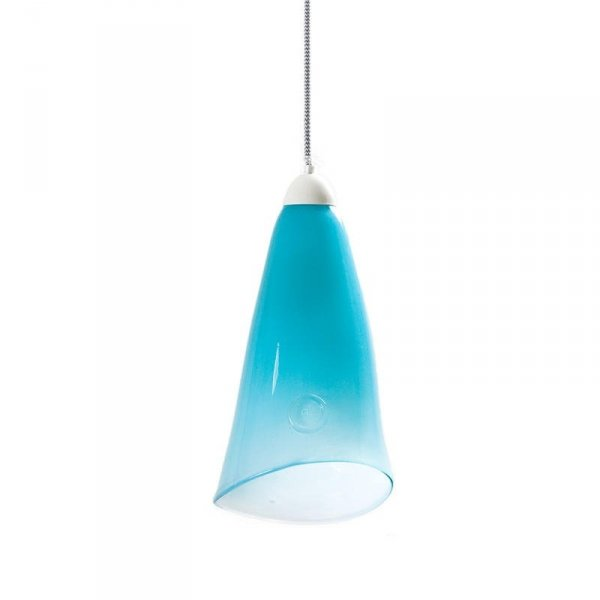 Lampa szklana pastelowy turkus Gie El