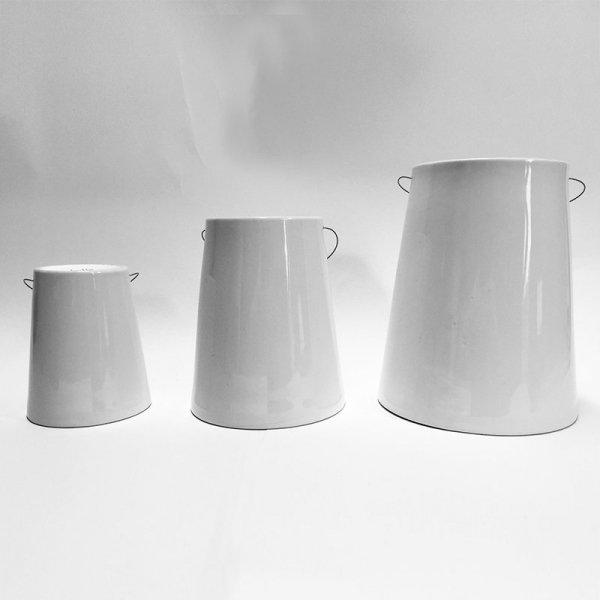 Nowa doniczka Sky Planter Ceramiczna Small Czarna z linką