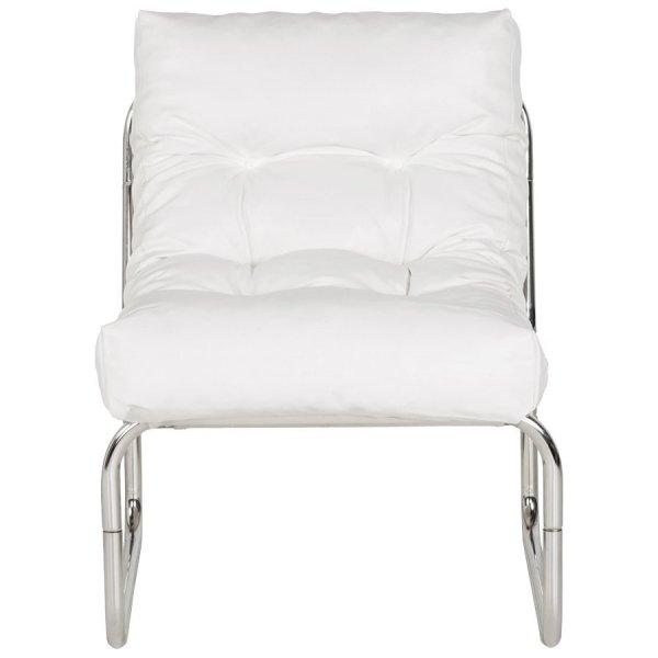 Wygodny fotel pikowany Boudoir biały