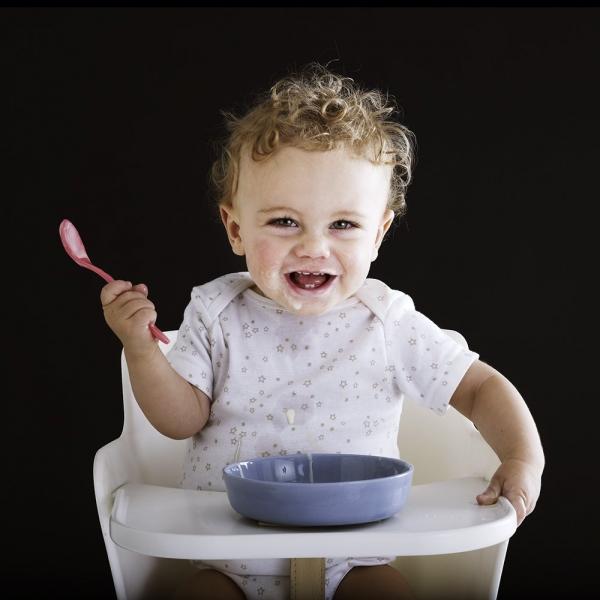 Wysokie krzesełko dziecięce Flexa Baby Białe