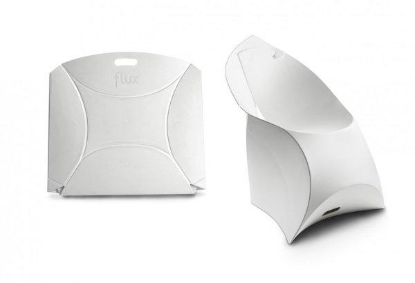 złożone krzesło flux zajmuje 1,5cm