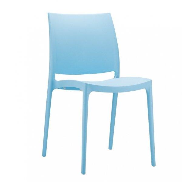 Piękne, stylowe krzesło nowoczesne Maya ma prostą, piękną formę i ponadczasowy design