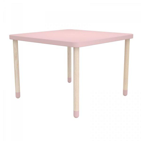 Kwadratowy stolik do pokoju dziecięcego Flexa Play różowy