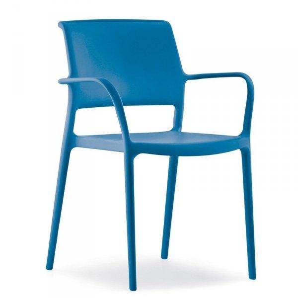Nowoczesne krzesła do kuchni i jadalni Ara 315 Pedrali Niebieskie