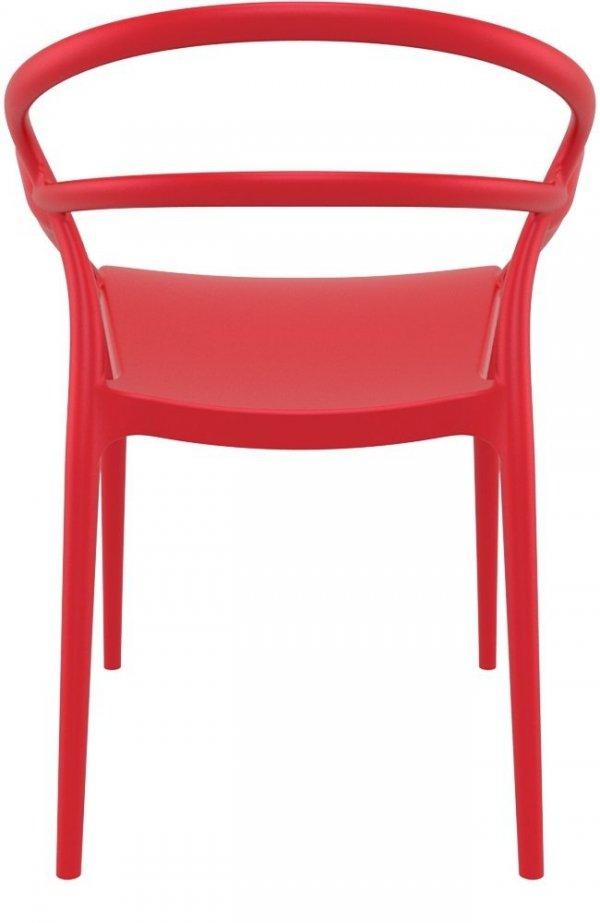 Krzesło Mila Siesta ciemny szary czerwone