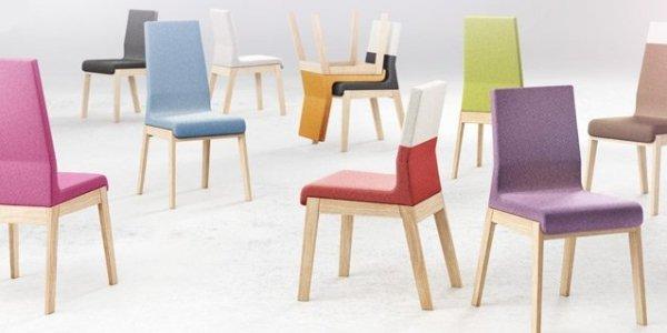 Szeroka paleta kolorystyczna tkanin sprawia, że krzesło KYLA doskonale zafunkcjonuje w każdym rodzaju pomieszczeń, niezależnie od zastosowanej stylistyki.